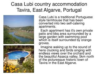 Casa Lubi country accommodation Tavira, East Algarve, Portugal