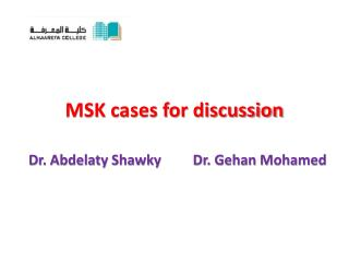 MSK cases for discussion
