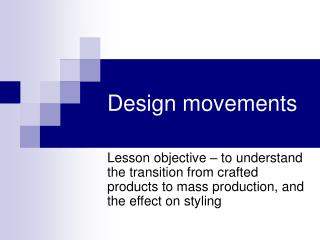 Design movements