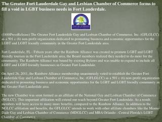 the greater fort lauderdale gay and lesbian chamber of comme