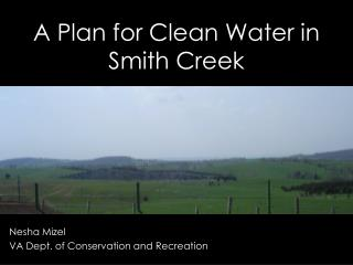 A Plan for Clean Water in Smith Creek
