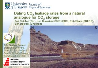 Dating CO2 leakage rates from a natural analogue for CO2 storage