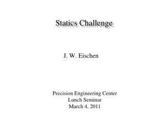 Statics Challenge