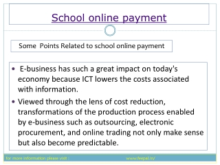The school online payment using feepal is secure and simple