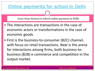 PPT Related  to Online payment for school in Delhi