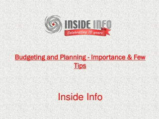 Budgeting and Planning - Importance