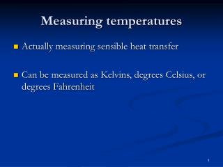 Measuring temperatures
