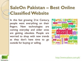 Sales on Pakistan
