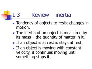 L-3        Review   inertia