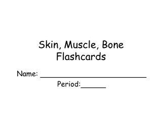 Skin, Muscle, Bone Flashcards