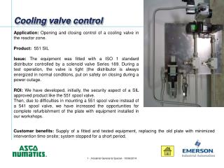 Cooling valve control