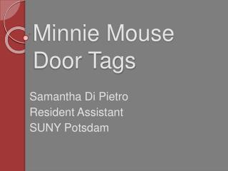 Minnie Mouse Door Tags