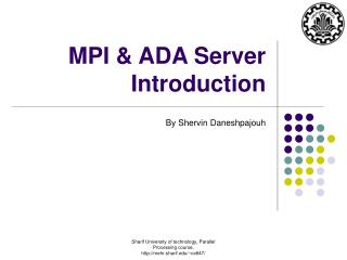 MPI  ADA Server Introduction