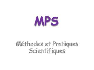 M thodes et Pratiques Scientifiques