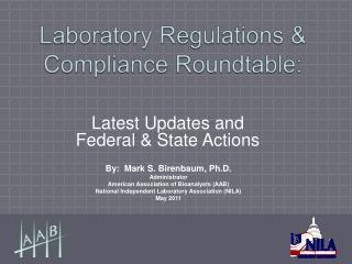 Laboratory Regulations  Compliance Roundtable: