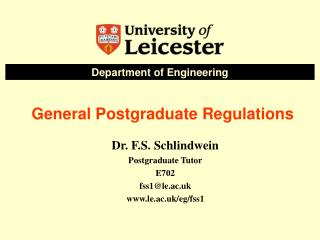 General Postgraduate Regulations