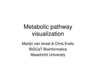 Metabolic pathway visualization