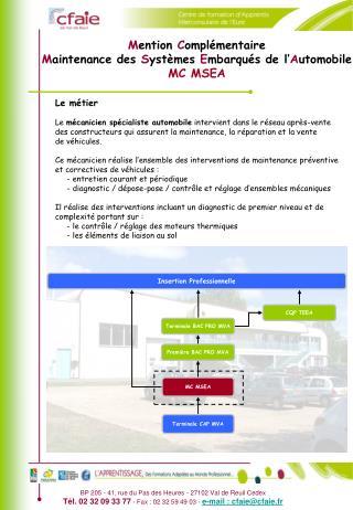 BP 205 - 41, rue du Pas des Heures - 27102 Val de Reuil Cedex T l. 02 32 09 33 77 - Fax : 02 32 59 49 03 - e-mail : cfai