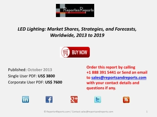 LED Lights Market to Demonstrate Brilliant Growth says Distr