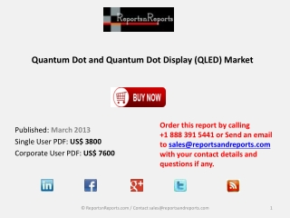 Quantum Dot Market (QLED) Represents a new Paradigm to Creat