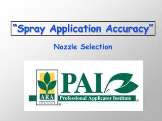 Spray Application Accuracy