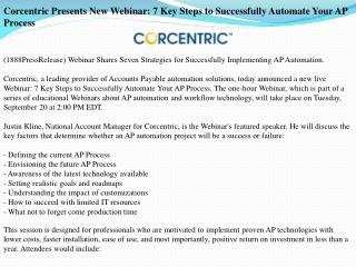 corcentric presents new webinar: 7 key steps to successfully