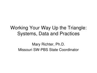Working Your Way Up the Triangle: Systems, Data and Practices