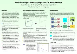 Real -Time Object Mapping Algorithm for Mobile Robots