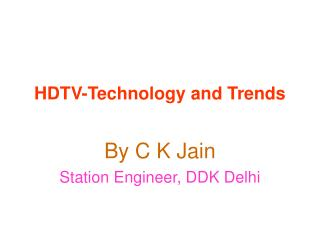 HDTV-Technology and Trends