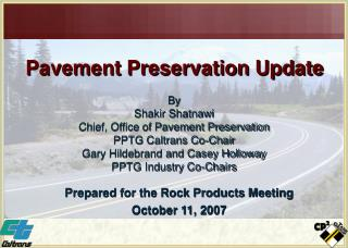 Pavement Preservation Update