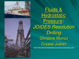 Fluids  Hydrostatic Pressure:  JOIDES Resolution Drilling