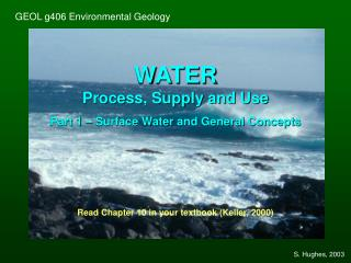 GEOL g406 Environmental Geology