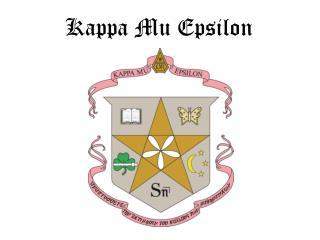 Kappa Mu Epsilon