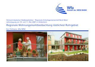 Regionale Wohnungsmarktbeobachtung  stliches Ruhrgebiet