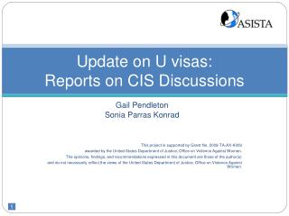 update on u visas:  reports on cis discussions