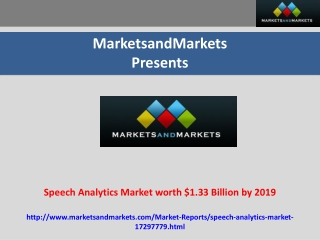 Speech Analytics Market Forecast (2014-2019)
