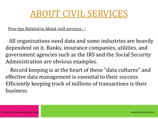 Best guidence about civil services