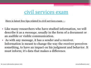 Knowledge about civil services exam
