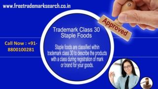 Trademark Class 30 | Staple Foods