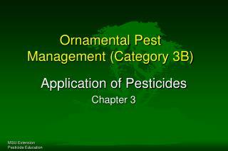Ornamental Pest Management Category 3B