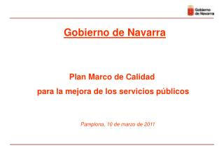 Plan Marco de Calidad  para la mejora de los servicios p blicos