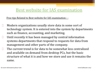 Halfmantr is the Best website for IAS examination