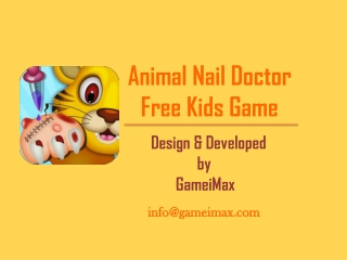 Animal Nail Doctor Kids Game