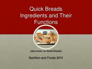 Quick Breads Ingredients and Their Functions
