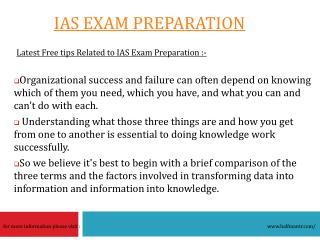 Some mews about IAS Exam Preparation