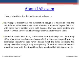 Getting important information about IAS exam