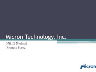 Micron Technology, Inc.