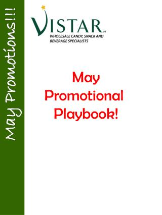 May Promotional  Playbook