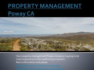 Poway PROPERTY MANAGEMENT