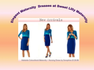Elegant Maternity  Dresses at Sweet Lilly Maternity